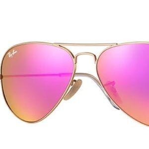 Pink rayban aviators